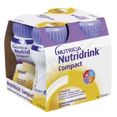 Nutridrink Compact s př. meruňk. por.sol. 4x125ml