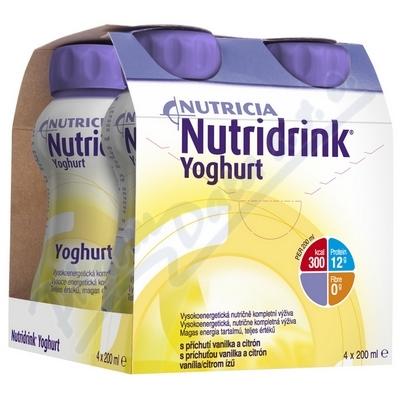 Nutridrink Yoghurt s př.vanil+citr.por.sol.4x200ml