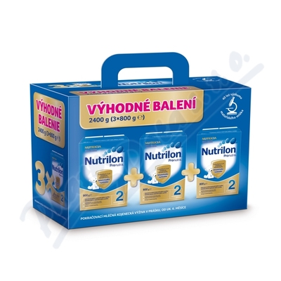 Nutrilon 2 Pronutra 3x800g BiB Výhodné balení