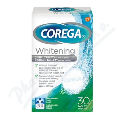 Corega Whitening tabs 30 ks