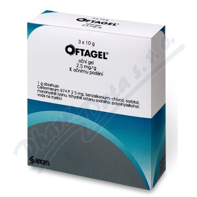 Oftagel oph.gel 3x10g/25mg